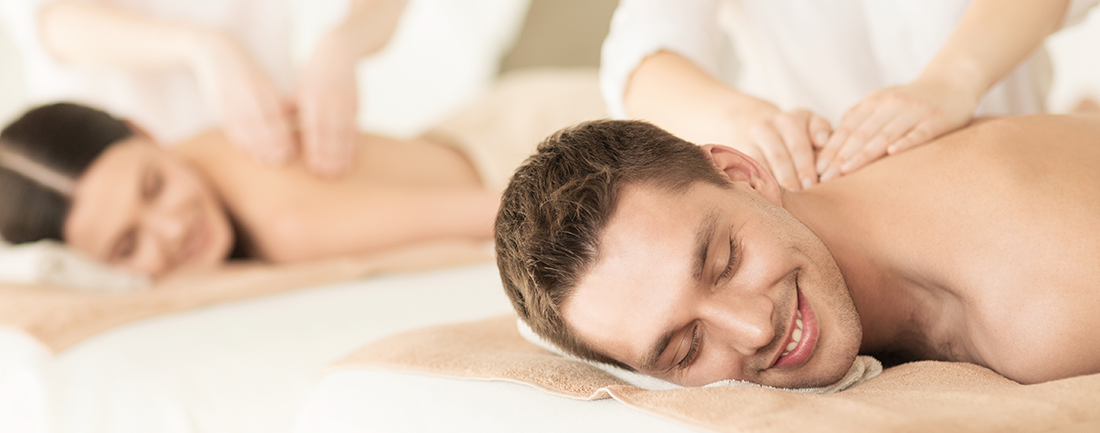 Man and Woman Enjoy a Couples Massage at Complexions Spa in Albany & Saratoga NY