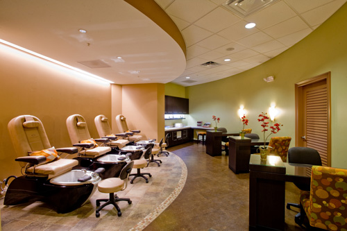 Manicure and Pedicure Stations at Complexions Spa in Allbany NY
