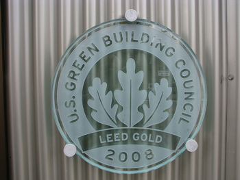 LEED Gold Building Plaque - Complexions Spa