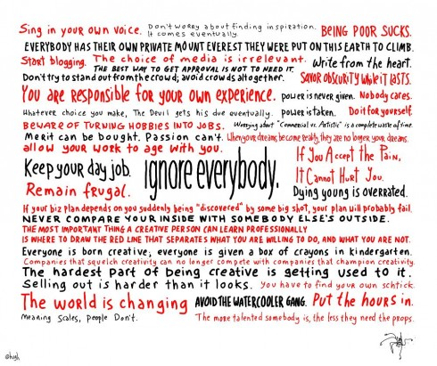 """ignore everybody."" By Huge Macleod"
