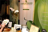 The Complexions Spa table at the Go-Green Expo Eco-Luxe Event