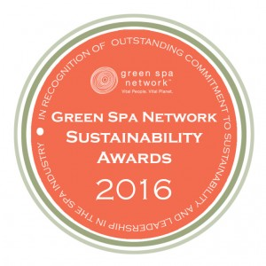 Green Spa Network Sustainability Award Honorable Mention