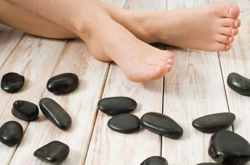 Pedicured Feet with Hot Stones