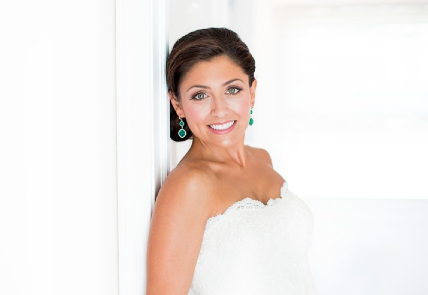 Bride on Wall, Hair Dresser, Saratoga Springs, NY - Complexions Spa for Beauty and Wellness