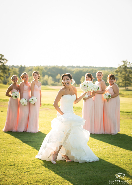 Bridal Party on Golf Course, Hair Dresser, Saratoga Springs, NY - Complexions Spa for Beauty and Wellness