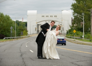 Wedding Couple On Freeway Photo, Hair Dresser, Albany, NY - Complexions Spa for Beauty and Wellness