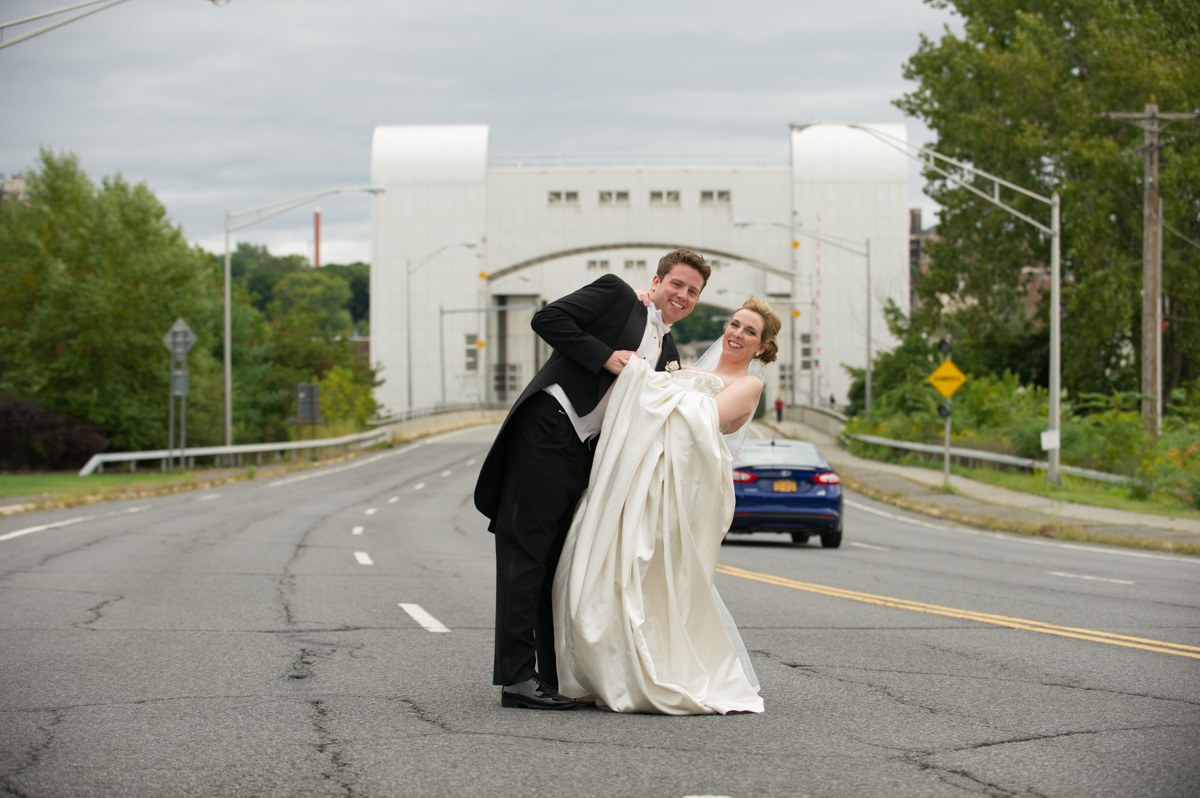 Wedding Couple On Freeway Complexions Spa For Beauty