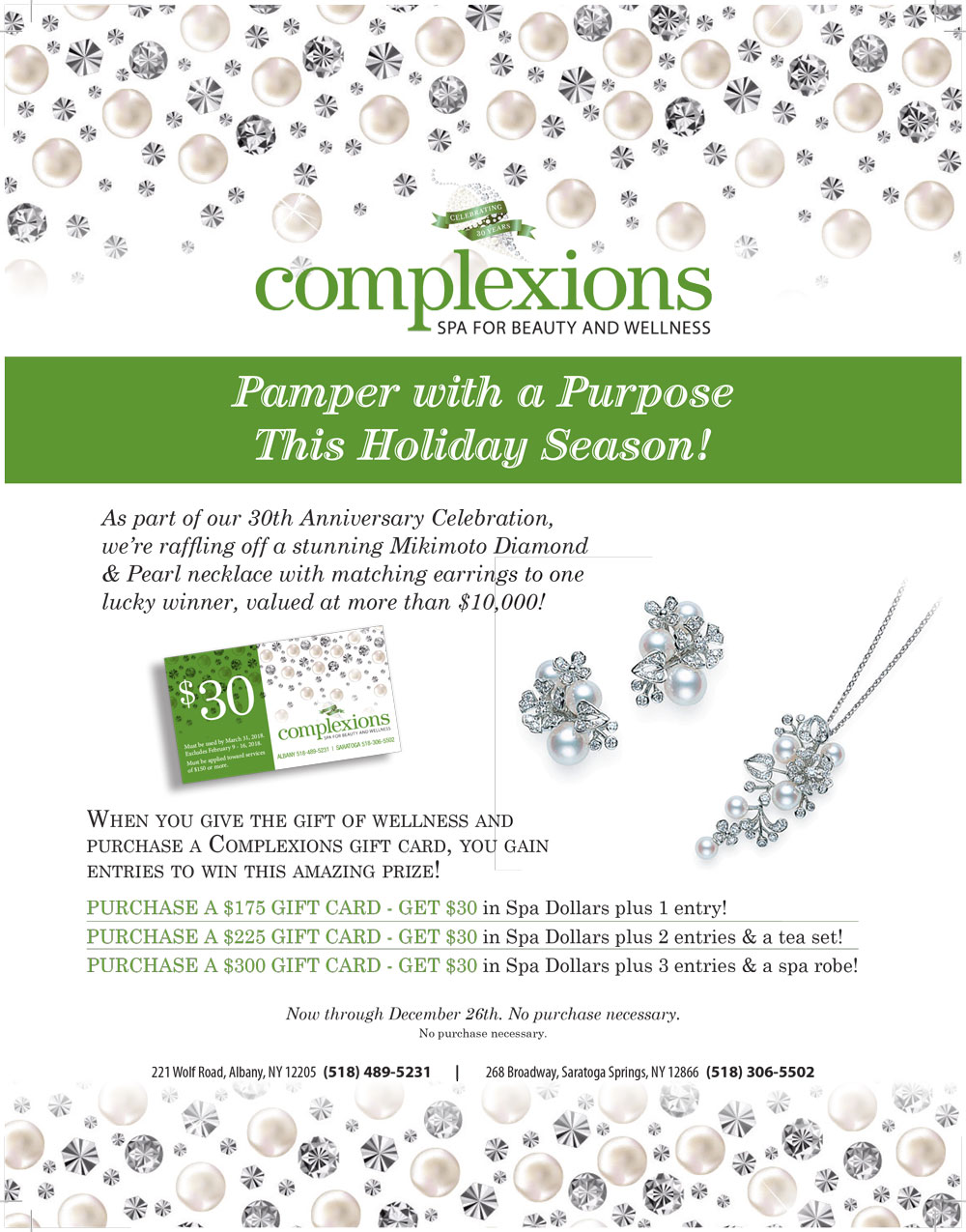 Holiday - Complexions Spa for Beauty & Wellness