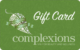 gift card complexions spa holiday