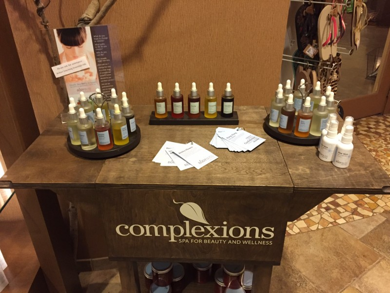 Vitality Aromatherapy bar at Complexions Spa & Salon
