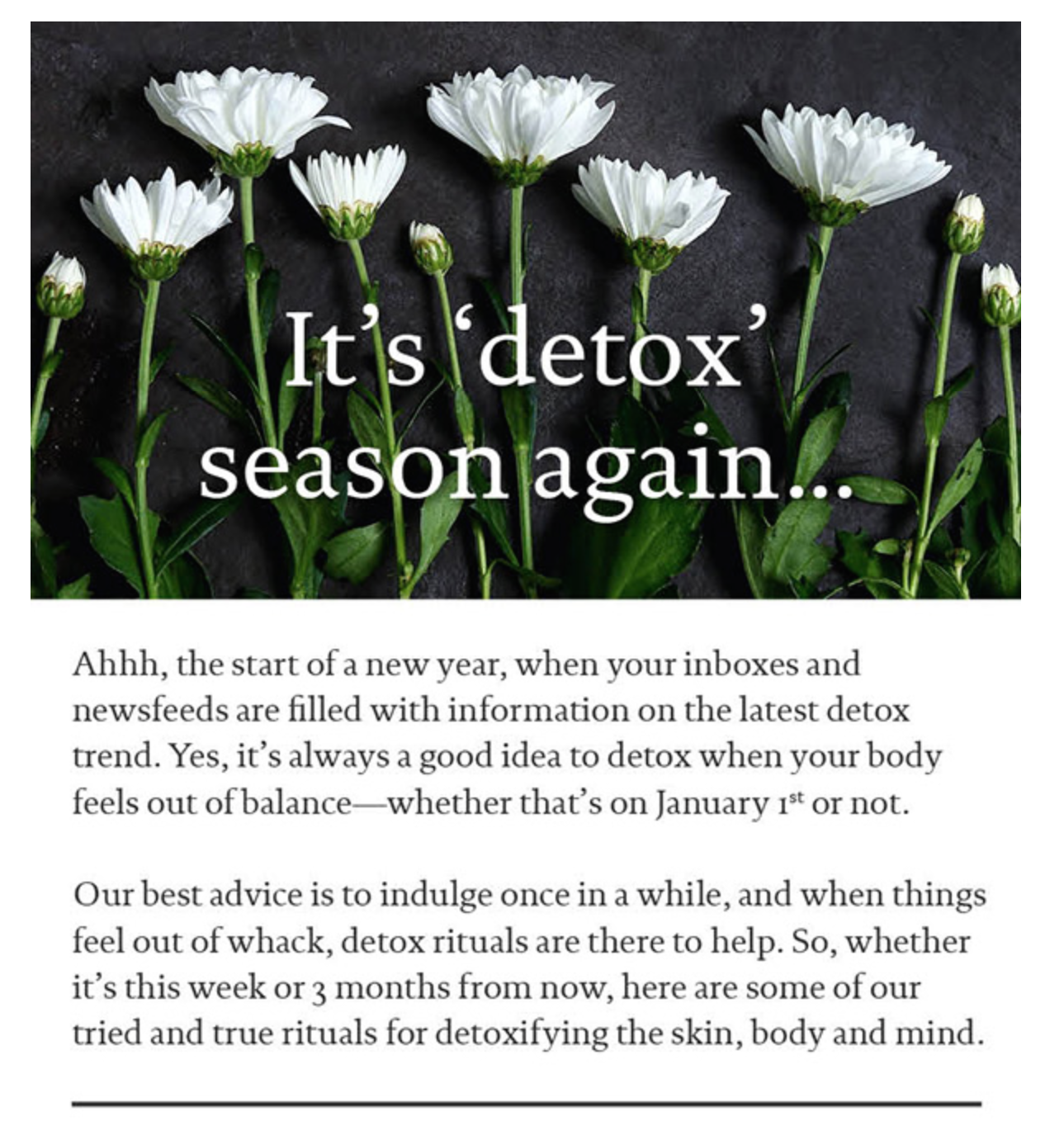 Naturopathica Newsletter at Complexions Spa & Salon