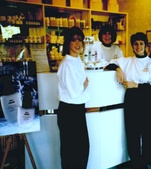 Denise Dubois, right, with two members of her team at her first Complexions Spa location in 1990.