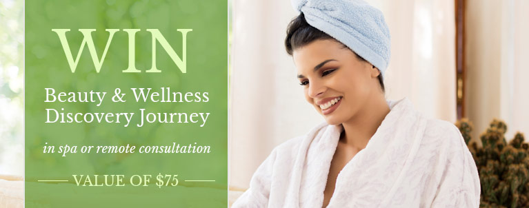 Beauty & Wellness Discovery Journey Contest - Woman on laptop