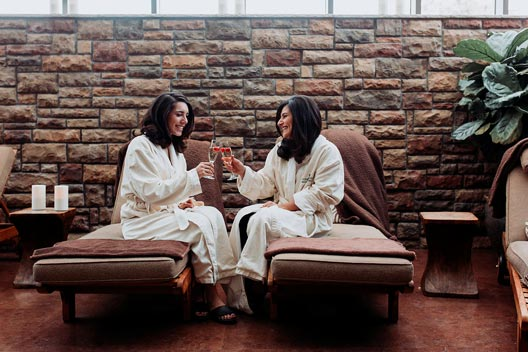 Complexions Spa - Women relaxing in the lounge