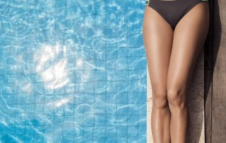 Body Contouring- Beautiful woman by pool